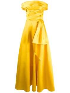 Talbot Runhof вечернее платье с драпировкой