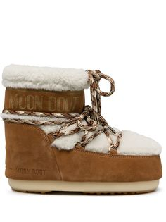 Moon Boot зимние ботинки с отделкой из овчины