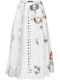 Chopova Lowena юбка Jasna с поясом и вышивкой