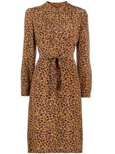 A.P.C. платье А-силуэта с леопардовым принтом
