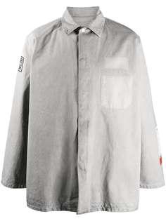 Heron Preston футболка с длинными рукавами и нашивкой-логотипом