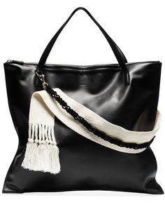 Jil Sander сумка-тоут с контрастным ремешком