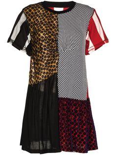 MarquesAlmeida платье мини reM'Ade в технике пэчворк