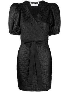 ROTATE фактурное платье мини