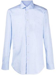Etro жаккардовая рубашка с длинными рукавами