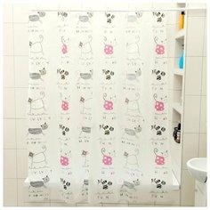 Штора для ванной Доляна Коты 180x180 коты