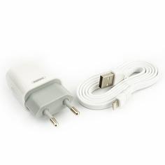 Сетевое зарядное устройство USB Remax RP-U14 + кабель Lightning 2400mAh <белый>