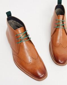 Светло-коричневые кожаные строгие ботинки со шнуровкой Silver Street-Светло-коричневый