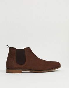 Коричневые кожаные ботинки челси Red Tape-Коричневый