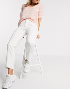 Белые джинсы прямого кроя из переработанного хлопка Pimkie-Белый