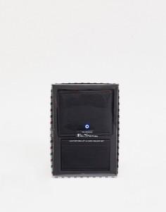 Кожаный бумажник и кредитница Ben Sherman-Черный