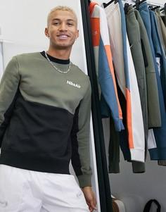 Свитшот цвета хаки/черный с круглым вырезом Nike Air-Зеленый