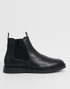 Черные кожаные ботинки Barbour International-Черный