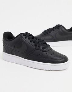Черно-белые кроссовки Nike Court Vision Low-Синий