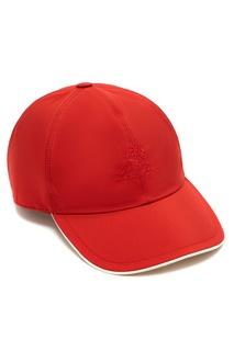 Красная бейсболка с логотипом Loro Piana