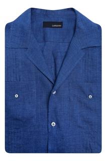 Льняная рубашка с короткими рукавами Lardini