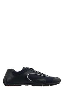 Синие кроссовки Prada