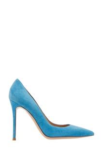 Голубые замшевые туфли Gianvito Rossi