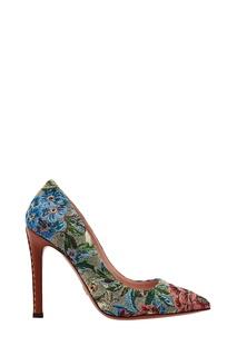 Разноцветные туфли из текстиля и кожи Ermanno Scervino