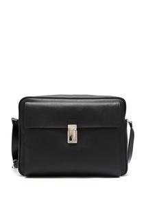 Черная сумка-портфель Prada