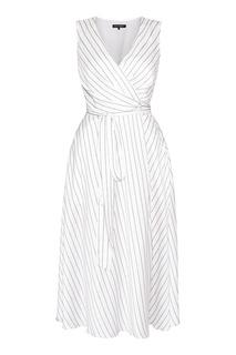 Белое миди-платье на запах Terekhov Girl