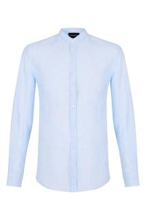 Светло-голубая льняная сорочка Emporio Armani
