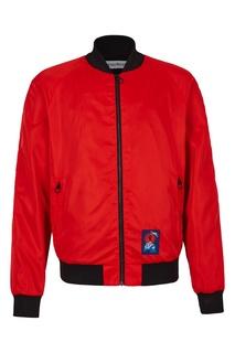 Красная куртка в спортивном стиле Bikkembergs