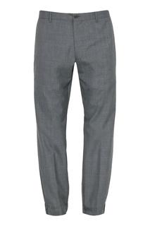 Серые зауженные брюки Lardini