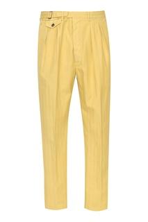 Желтые брюки Lardini