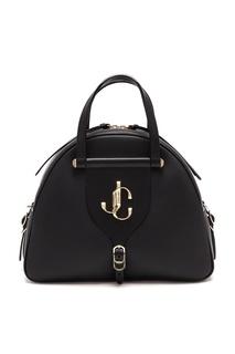 Черная кожаная сумка Varenne Bowling Jimmy Choo