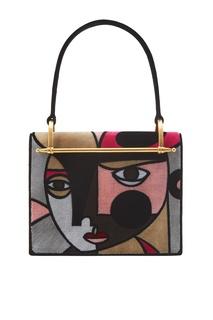 Бархатная сумка Cartella Prada