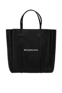 Черная сумка-тоут с логотипом Everyday Tote L Balenciaga