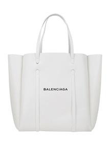 Белая сумка-тоут с логотипом Everyday Tote M Balenciaga