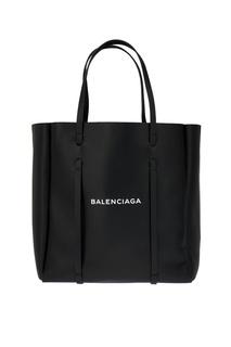 Черная сумка с логотипом Everyday Tote M Balenciaga