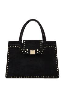 Черная замшевая сумка-тоут Rebel Jimmy Choo