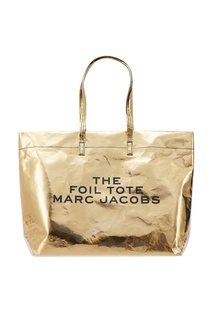 Золотистая сумка-шоппер The Foil Tote Marc Jacobs (The)