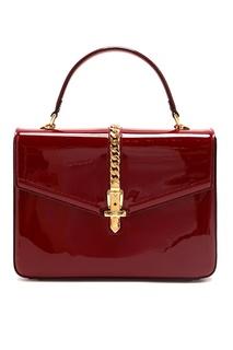 Лакированная сумка Sylvie 1969 Gucci