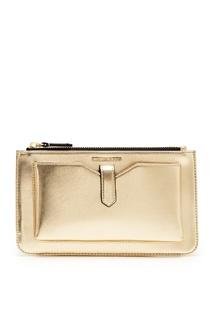 Золотистая сумка Emporio Armani