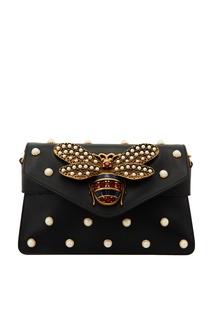 Черная сумка с бусинами Gucci