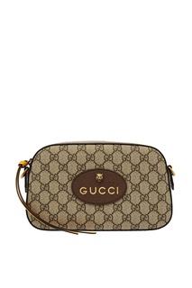 Бежевая сумка с монограммами Gucci