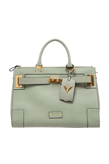 Светло-зеленая сумка с короткими ручками Valentino