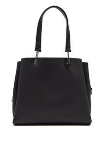 Черная сумка-шоппер Emporio Armani