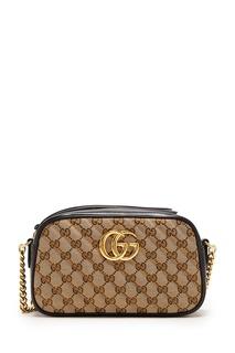 Темно-синяя сумка с пряжкой Gucci
