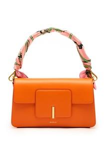Оранжевая кожаная сумка Georgia Wandler