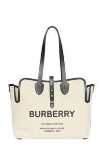 Белая сумка из парусины Burberry