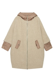 Шерстяное пальто-кокон Milamarsel