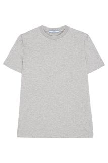 Серая меланжевая футболка Prada