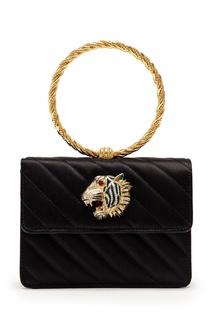 Стеганая сумка из атласной ткани Broadway Gucci