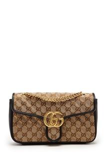 Темно-синяя сумка с GG-мотивом Gucci