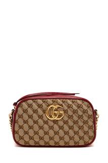 Красная кроссбоди с отделкой Gucci